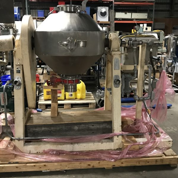 5 Cubic Foot Paul Abbe Stainless Steel Double Cone Vacuum Dryer