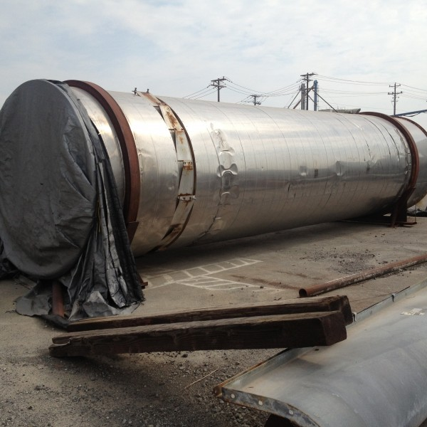 96″ X 30′ FMC Carbon Steel Link Belt Roto-Louvre Rotary Dryer/Cooler