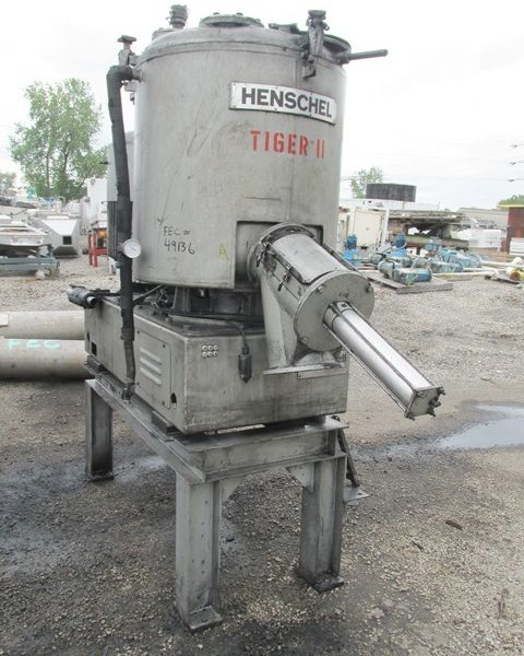 600 Liter Thyssen Henschel FM600D Stainless Steel High Intensity Mixer