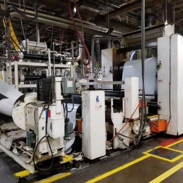 62″ Wide Gloucester Engineering Sheet Extrusion Line w/6″ Gloucester Vented Extruder
