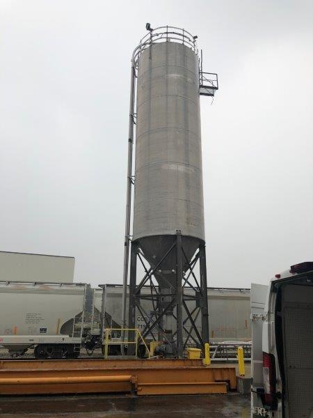 Allied Industries Aluminum Silo 12′ O.D. x 60′ tall