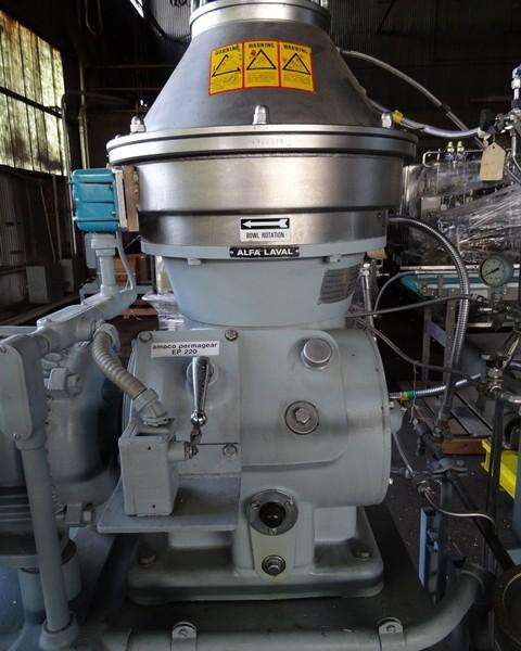Alfa Laval Model BTPX205-SGD-35CDP-60 Stainless Steel Centrifuge