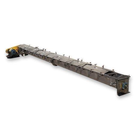9″ Dia X 21'3″ Long Stainless Steel Sanitary Industrial Screw Auger Conveyor
