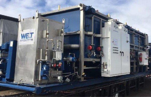 Portable DAF clarifier unit , 650 GPM